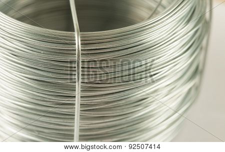 Coil of soft fictile pliable tin wire