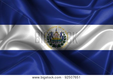 Wavy Flag Of El Salvador