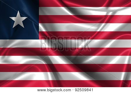 Wavy Flag Of Liberia