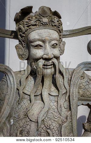 Guardian Statues at Wat Pho (Pho Temple) in Bangkok