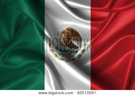 Wavy Flag Of Mexico