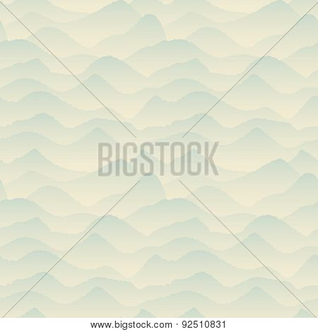 Abstract Blue, Mountain Pattern. Vector Illustration