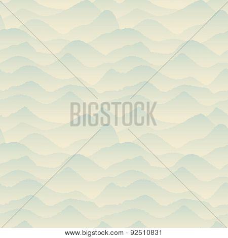 Abstract Blue, Mountain Pattern. Vector Illustration