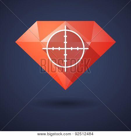 Diamond Icon With A Crosshair