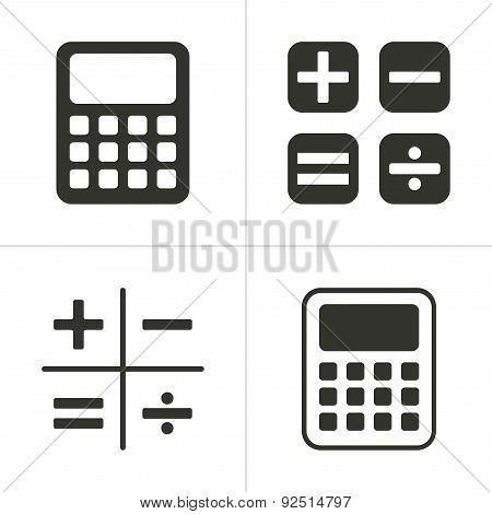 Set Of Simple Calculator Icon