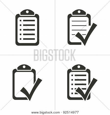 Set Of Simple Checklist Icon