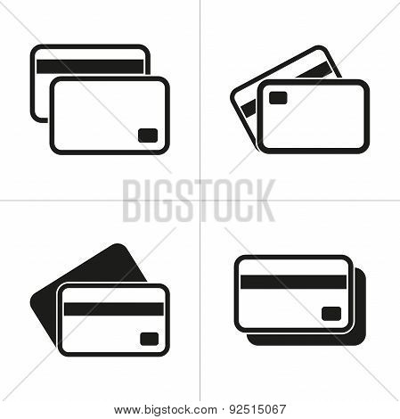 Set Of Simple Credit Card Icon