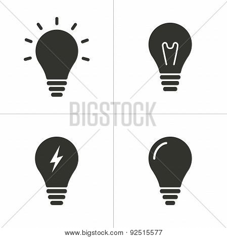 Set Of Simple Lamp Icon