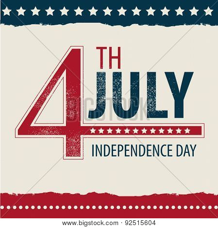 postcard in celebration of independence day in the united states of america 4th of july. vector illu