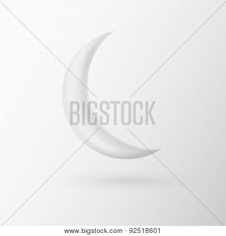 White sphere on grey background. Vector illustration
