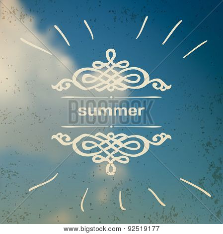 Blurred photographic vector background with summer sky