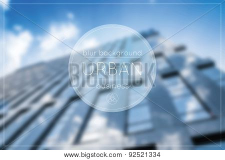 Vector Blurred Urban Background