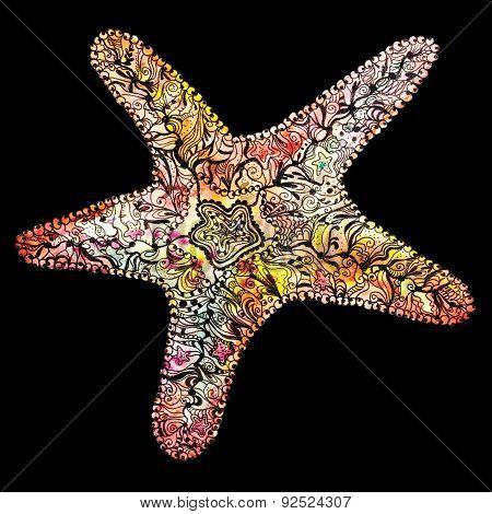 Creative Watercolor Starfish