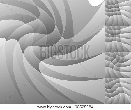 Abstract Monochrome / Monochromatic Pattern, Background. Vector. Eps 10 With Transparency.