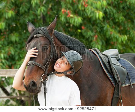 Woman Rider And Horse