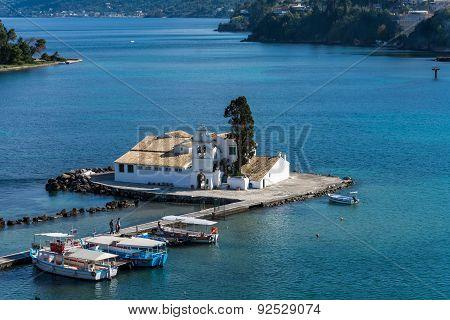 View Of Pontikonisi Island,corfu,greece