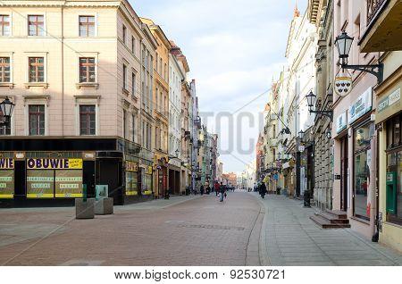 Main street in Torun (Poland).