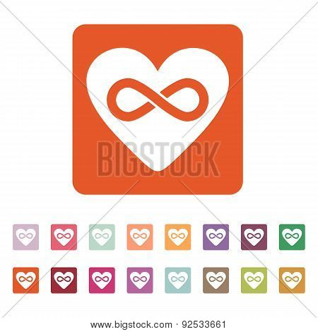 The Heart And Infinity Icon. Heart And Infinity