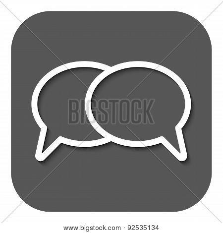 The Speech Bubbles Icon. Talk Symbol. Flat