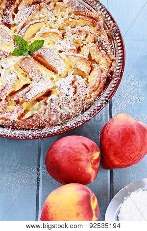 Delicious Peach Clafouti