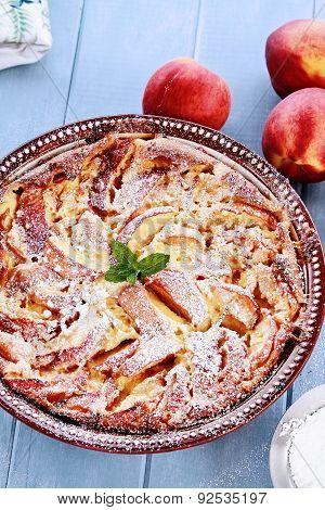 Fresh Peach Clafouti