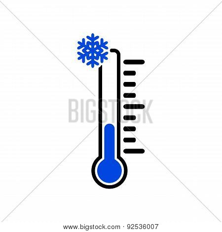 The Thermometer Icon. Low Temperature Symbol