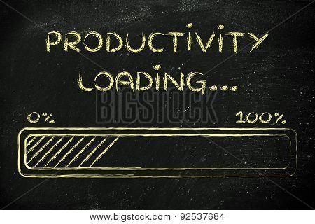 Funny Progress Bar With Productivity Loading