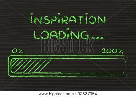 Funny Progress Bar With Inspiration Loading