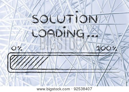 Funny Progress Bar With Solution Loading