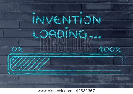 Funny Progress Bar With Invention Loading