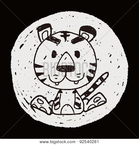 Chinese Zodiac Tiger Doodle Drawing
