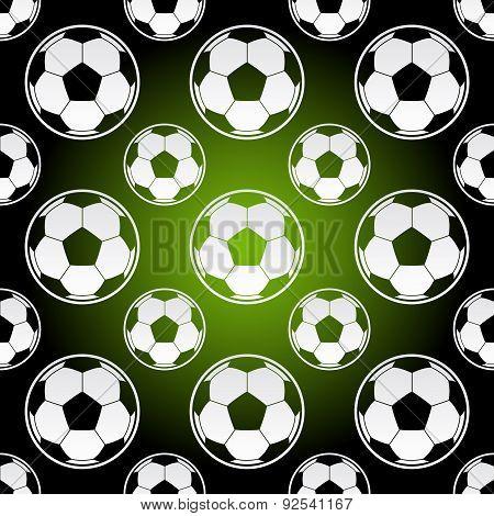 Seamless Football Soccer Balls