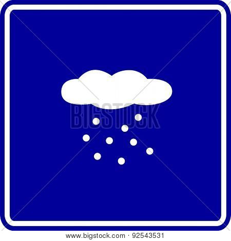 snowing cloud sign