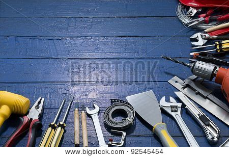 Carpenter Tools with Copy Space