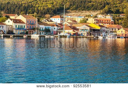 View of the greece town