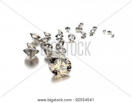 Diamonds. Jewelry background
