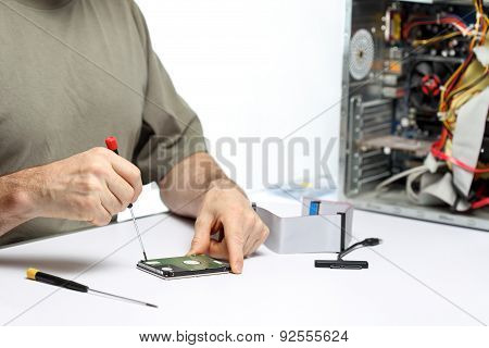 Working With Screw Driver