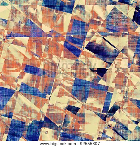 Old school textured background. With different color patterns: yellow (beige); brown; blue; red (orange)