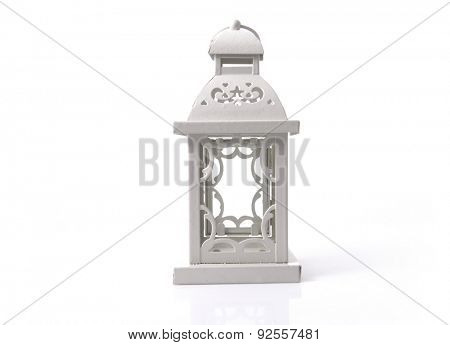 White candle holder. An isolated object on white background.