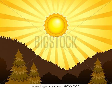 Abstract sunny landscape theme 1 - eps10 vector illustration.