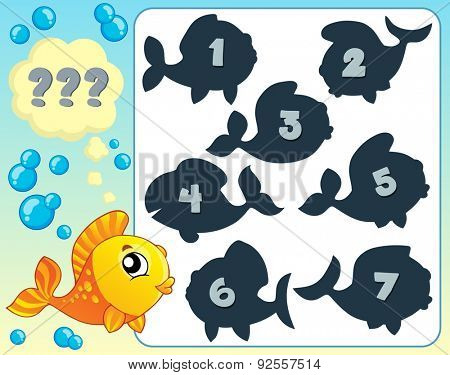 Fish riddle theme image 6 - eps10 vector illustration.