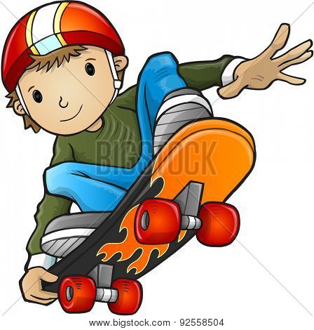skateboarder Vector Illustration Art
