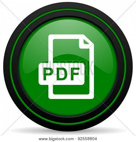 pdf file green icon