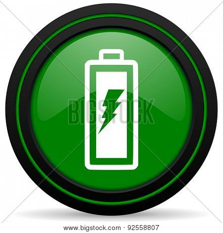 battery green icon power sign