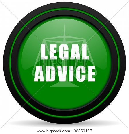 legal advice green icon law sign