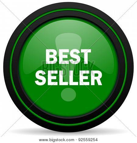 best seller green icon