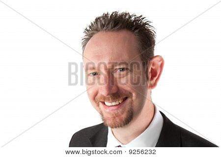 Smiling Businessman With Goatee Beard