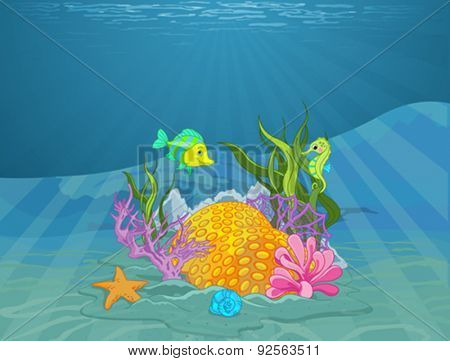 Illustration of wonderful seabed