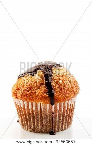 Muffin With Liquid Chocolate