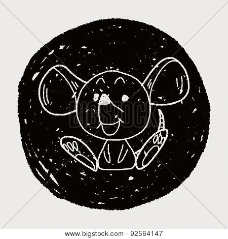 Chinese Zodiac Mouse Doodle Drawing
